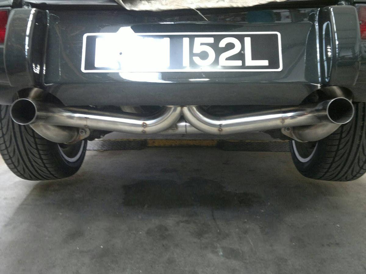 911 (64-73) RSR Dual muffler system
